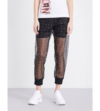 Fyodor Golan Sequin Detail Tulle Trousers Black Pink