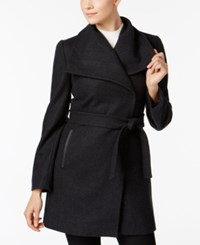 Inc International Concepts Belted Wrap Coat Only At Macy's Charcoal