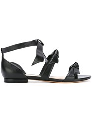Alexandre Birman Flat Bow Sandals Women Calf Leather Leather 38 Black