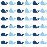 Tempaper Whale Removable Wallpaper Blue