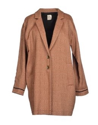 Attic And Barn Attic And Barn Full Length Jackets Brown