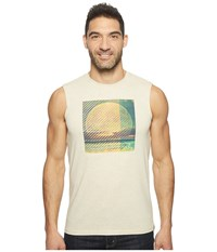 Prana Full Moon Sleeveless Tee Stone Men's Sleeveless White