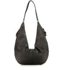 The Row Sling Leather Shoulder Bag Black