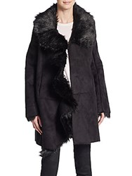 Bagatelle Faux Fur Trimmed Coat Black
