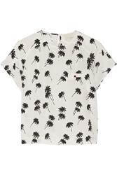 Band Of Outsiders Printed Silk Crepe Top