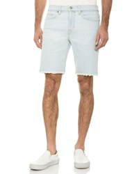 Joe's Jeans Unfinished Hem Bermuda Shorts Light Blue