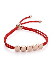 Monica Vinader Linear Bead Friendship Bracelet Female Coral