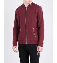 The Kooples Ribbed Wool Bomber Jacket Red44