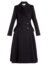 Gabriela Hearst Cantwell Double Breasted Cashmere Coat Navy