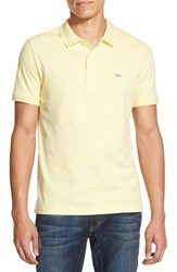 Men's Lacoste Stretch Pique Polo Feather Yellow