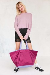 Urban Outfitters Oversized Tonal Nylon Tote Bag Purple
