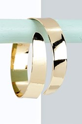 Boohoo Swirl Curved Arm Cuff Gold