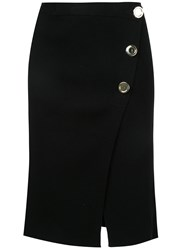 Each X Other Button Detail Skirt Women Cotton Spandex Elastane M Black