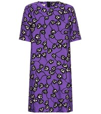 Marni Floral Printed T Shirt Dress Purple