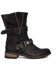 Feud Crescent Buckle Detail Flat Boot