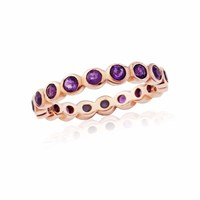 Maiko Nagayama Amethyst Round Eternity Ring Rose Gold Pink Purple
