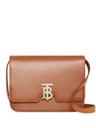 Burberry Medium Leather Tb Bag Brown