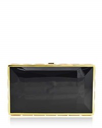 Judith Leiber Specchio Faceted Box Clutch Bag Black Gold