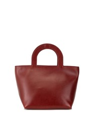 Building Block Tiny Stencil Tote Red