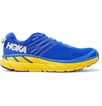Hoka One One Clifton 6 Logo Print Embroidered Mesh Running Sneakers Blue