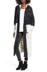 Sun And Shadow Women's Colorblock Long Cardigan