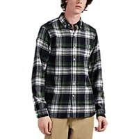 Alex Mill Plaid Cotton Flannel Shirt Green