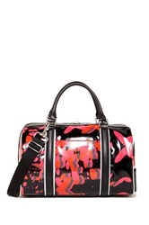 L.A.M.B. Gretchen Leather Trim Barrel Satchel