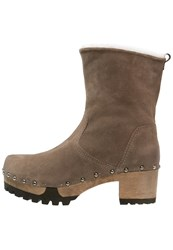 Softclox Ina Platform Boots Bailey Brown Sand