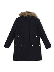 Dash Cotton Luxury Parka Navy