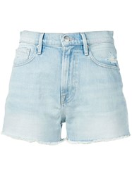 Frame Le Vintage Denim Shorts Blue