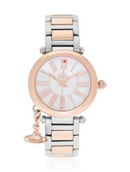 Vivienne Westwood Mother Orb Bi Metal Watch Silver Gold