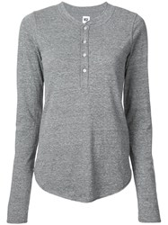 Nsf Long Sleeve Fitted Top Grey