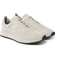 Officine Creative Race Suede Sneakers Gray