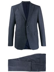 Tagliatore Single Breasted Two Piece Suit Blue