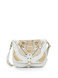 Ash Zuma Embellished Leather Crossbody Off White