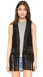 Free People Ringo Suede Vest Black