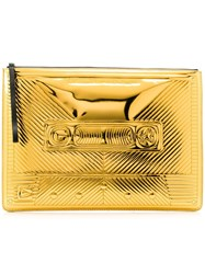 Corto Moltedo Big Cassette Clutch Gold