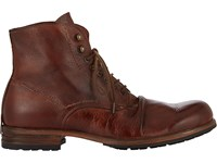 Shoto Wrinkled Boots Red Brown