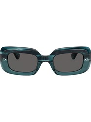 Oliver Peoples Saurine Rectangular Sunglasses Grey