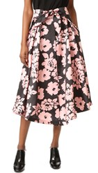 Milly Floral Print Midi Skirt Blush