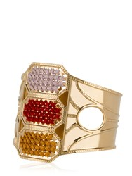 Camille Enrico Marea Brass And Woven Cotton Bracelet