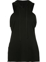 Unravel Project Hooded Tank Top Women Cotton Cashmere M Black