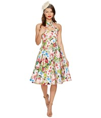 Unique Vintage Roses Rita Swing Dress Pink Watercolor Women's Dress
