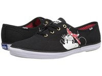 Keds Champion Minnie Placement Black Women's Lace Up Casual Shoes