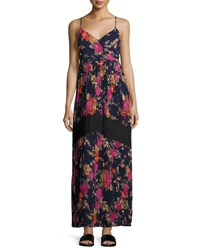 Lucca Couture Pleated Skirt Floral Print Maxi Dress Multi