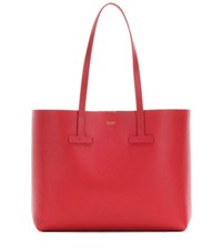 Tom Ford T Tote Leather Shopper Red
