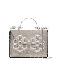 Okhtein Mini Square Cross Body Bag Metallic