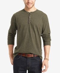 G.H. Bass And Co. Men's Long Sleeve Henley Forest Night Heather