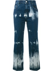Stella Mccartney Tie Dye Cropped Jeans Blue