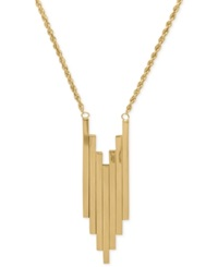 Macy's Graduated Bar Pendant Necklace In 14K Gold Yellow Gold